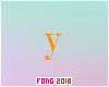 Fo. Y Letter Orange