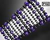 -P- Purple Pearl Cuff L