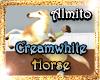 !(ALM)Cream White Horse
