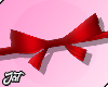 ♕ Bow Belt Red