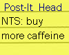 [Post-it head] Caffeine