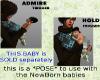 K&T Newborn baby pose