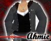 Fur Lined Jacket - Black