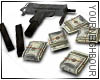 !Mac-10 Gun with money
