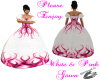 white&pink Flamed gown