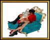 RoyalAquaTealKiss Chair
