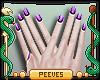 P; Nails Purple Ombre