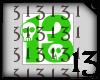 13 Skull Green Lght NoBG