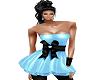 Soft Blue Ribbon Dress