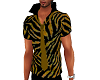 Tiger striped shirt tie