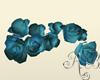 Blue Hair Roses Flower