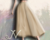 N. Beige Long Skirt