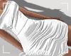 ṩSatin Dress White M