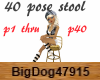 [BD] 40 P Stool