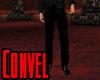 Black convel pants