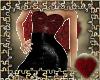 snakeskin dress red&blk