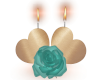 Teal Rose Candle