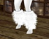 White Fur Boots