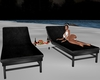 Relaxing lounge chairs