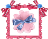 Flor rosa y satin...