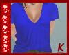 {K} Blue V-Neck Tee
