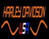 Neon Harley Davidson USA