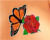 BUTTERFLY AND ROSE TATTO