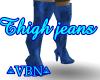 Thigh jeans blue