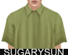 /su/ SATIN SHIRT GREEN