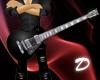 LP Black Guitar