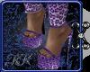 KK Purple Leopard Heels