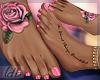 Pink Rose Feet + Anklets