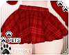 [Pets] Plaid skirt | Red