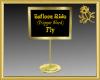 Balloon Ride Sign