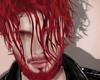 Head + beard, red.