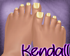 *KT* Yellow Nails Feet