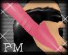 {fm} rubber gloves pink