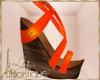 {liz} Orange Sandals