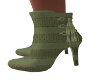 Green Allie Ankle Boots