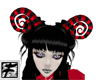 ~F~Red N Blk Curly Horns