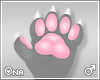 ! White/Pink Furry Claws