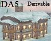 (A) Lit Snowy Estate