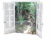 White garden french door