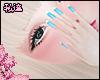 ダ. blue cute nails