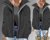 D. Fluffy Jacket Gray