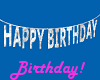 Birthday Banner, Silver