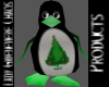 Holiday Penguin Green