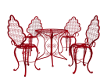 Outdoor Table Set-Red