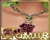 QMBR Necklace Grapes Pyt