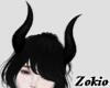 Succubus horns ||Black